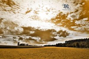 Paysage nuageux en province de Luxembourg Belgique